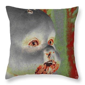 Zombie Baby Throw Pillow