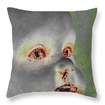 Zombie Baby Three Throw Pillow