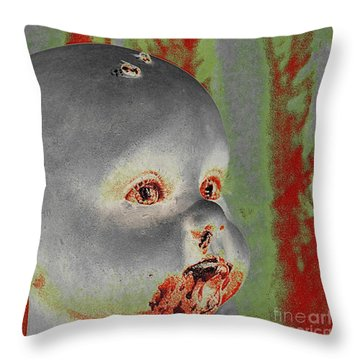 Zombie Baby Two Throw Pillow