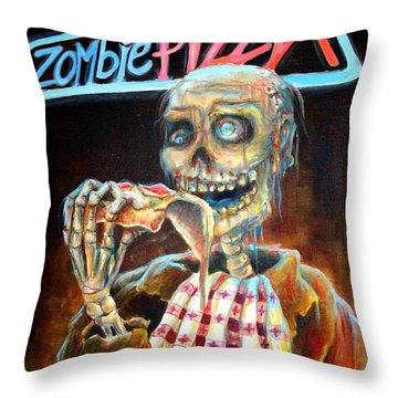 City Of The Dead Throw Pillows