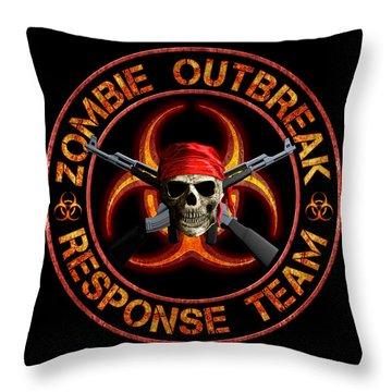 Zombie Response Team Throw Pillow