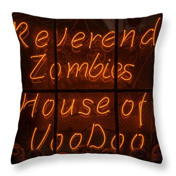 Zombies House Of Voodoo Throw Pillow