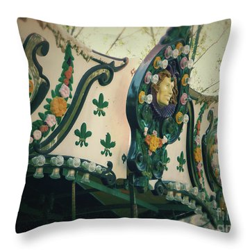 Zoo Carousel Ma Throw Pillow