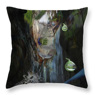 Throw Pillow featuring the photograph Zoo Friends by Richard Ricci