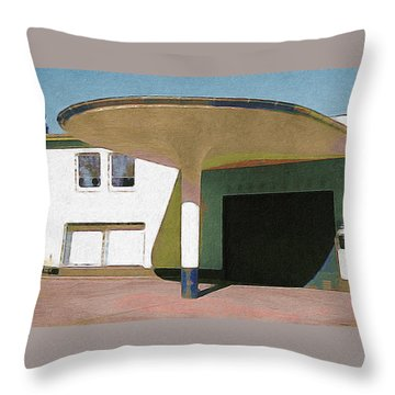 Zoo Garage, Cologne, Germany. Throw Pillow