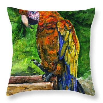 Zoo In St. Maarten Throw Pillow