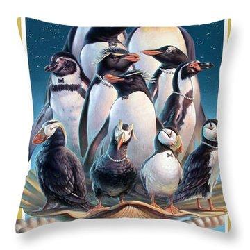 Zoofari Poster 2004 The Penguins Throw Pillow