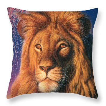 Zoofari Poster The Lion Throw Pillow by Hans Droog