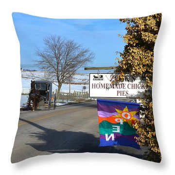 Zook's Homemade Chicken Pies Throw Pillow