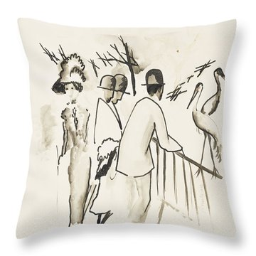 Zoological Garden II Throw Pillow by August Macke
