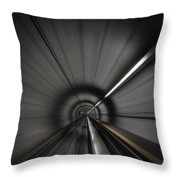Zooming Along In The Tunnel Of Hope Throw Pillow