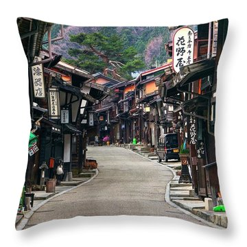 Throw Pillow featuring the photograph Zooming Back To The Past by Peter Thoeny