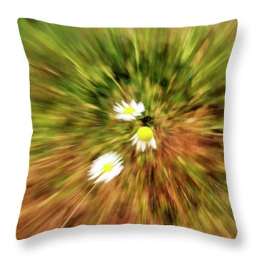 Zooming In Or Zooming Out Throw Pillow