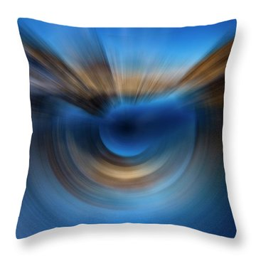 Zooming Into The Spin Throw Pillow