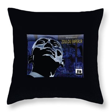 Zoulou Emperor Throw Pillow by Line Gagne