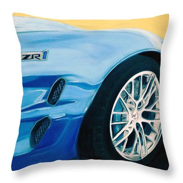 Zr1 Go Faster Throw Pillow