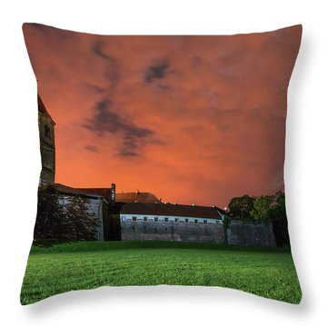 Zrinskis' Castle 2 Throw Pillow