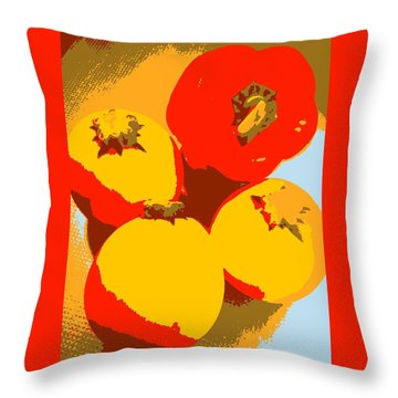 Zucchini And Bell Pepper Throw Pillow