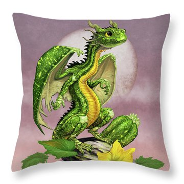 Throw Pillow featuring the digital art Zucchini Dragon by Stanley Morrison