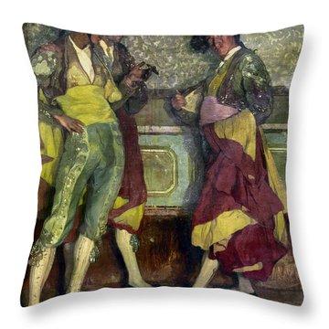 Zuloaga: Bullfighters Throw Pillow by Granger