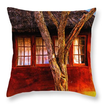 Zulu Hut Throw Pillow