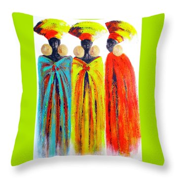 Zulu Ladies Throw Pillow