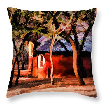 Zulu Sunset Throw Pillow