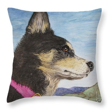 Zuma Throw Pillow by Megan Cohen