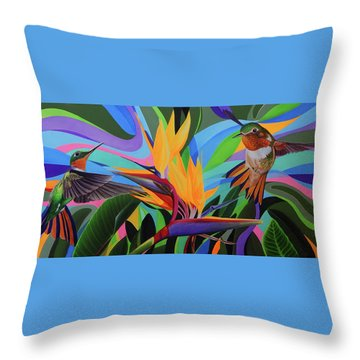 Zumbador Canela Throw Pillow by Angel Ortiz