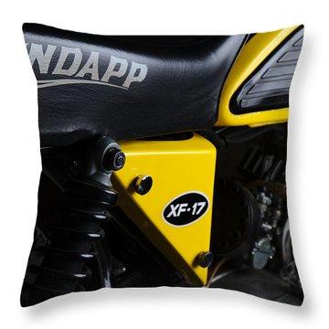 Classic Zundapp Bike Xf-17 Side View Throw Pillow