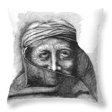 Zuni Priest Throw Pillow