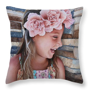 Throw Pillow featuring the painting Zuri Painting by Mike Ivey