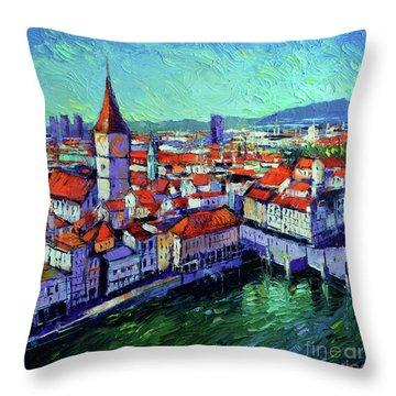 Zurich View Throw Pillow