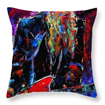 Zz Top Billie Gibbons Throw Pillow by Debra Hurd