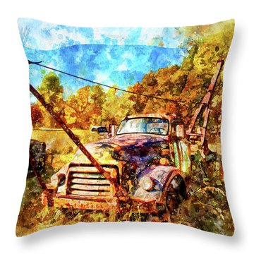1950 Gmc Truck Throw Pillow