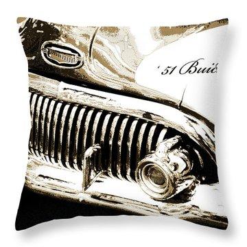 1951 Buick Super, Digital Art Throw Pillow