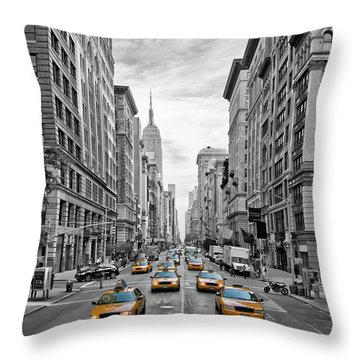 5th Avenue Nyc Traffic Throw Pillow