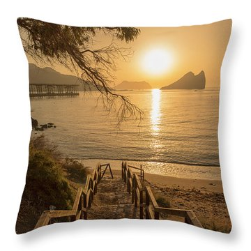 Access To The Beach At Dawn Throw Pillow