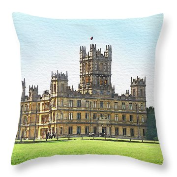 A View Of Highclere Castle Throw Pillow