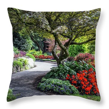 A Walk In The Garden Throw Pillow