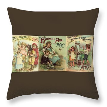 1 Abc Book Covers For Mugs Throw Pillow