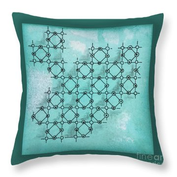 Abstract Biological Illustration Throw Pillow