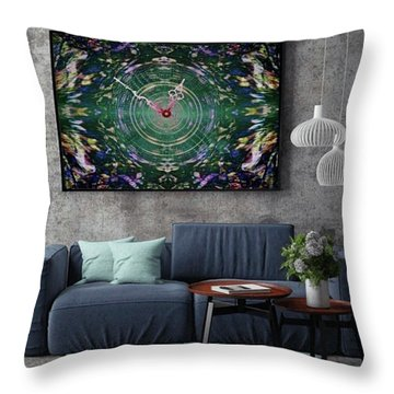 Abstract Cherry Blossom Throw Pillow