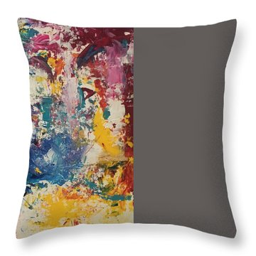Playing With Color IIi Throw Pillow