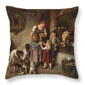 Adolf Eberle  Fresh Milk Throw Pillow