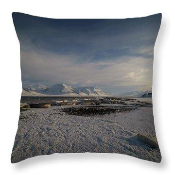 Adventfjorden Throw Pillow
