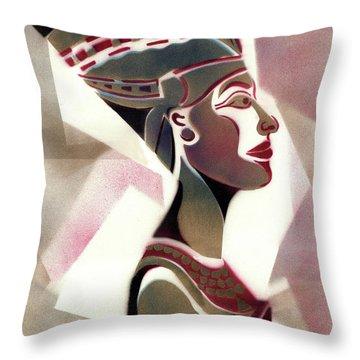 African Mask Throw Pillows