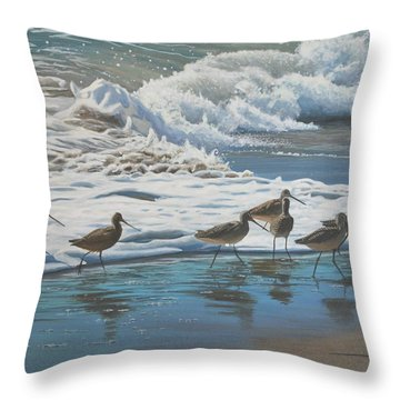 Afternoon Surf Throw Pillow