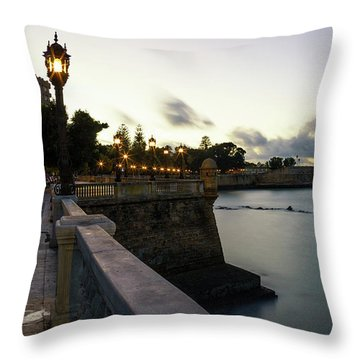 Throw Pillow featuring the photograph Alameda Apodaca Promenade Cadiz Spain by Pablo Avanzini