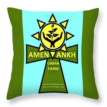 Amen Ankh Throw Pillow